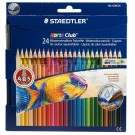 lot de 24 crayons de couleur aquarellables