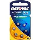 "RAYOVAC piles bouton pour aides auditives ""acoustic"" -"