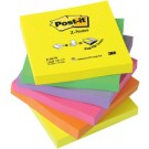 Cube Post-it - notes adhésives - 76 x 76 mm - 6 couleurs