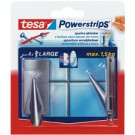 Tesa Crochets Powerstrips LARGE - tendance - chrome