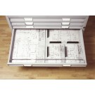 BISLEY armoire a plans format A0 - 5 tiroirs -