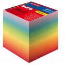 Bloc-notes cube couleurs arc-en-ciel