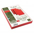 couverture reliure A4 effet cuir rouge emballage