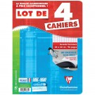 lot de 4 cahiers 24x32 cm grand carreau