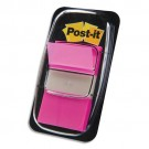 marque page autocollant index post it rose vif