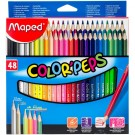 paquet de 48 crayons de couleur maped color peps