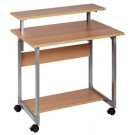 Table ordinateur SYSTEM argent hetre